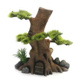 עיצוב אקווריום - קישוט לאקווריום בית בתוך עץ