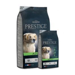 """אוכל לכלבים פרסטיז אדולט 15+3 ק""""ג"""
