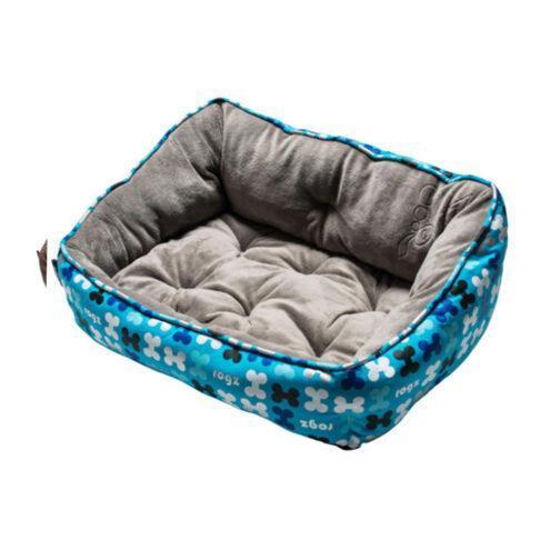 מיטה לכלב רוגז עצמות קטיפה כחול