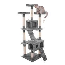 מתקן גירוד גדול לחתול צבע אפור