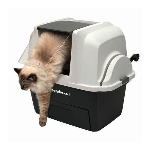 שירותים אוטומטיים לחתול קט איט סמארט סיפט - שירותים סגורים לחתול