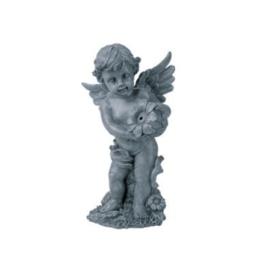 מזרקת מלאך דמוי אבן לבריכה