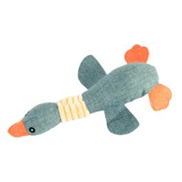 צעצוע לכלב לעיסה נשיכה בצורת ברווז כחול וכתום