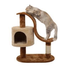 מתקן גירוד לחתול. צורת גל