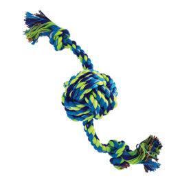 צעצוע לכלבים חבל דנטלי עם כדור קלוע