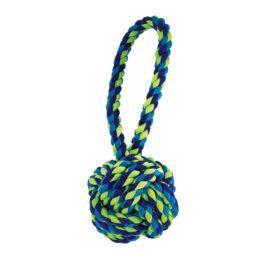 צעצוע לכלב כדור גדול עם חבל