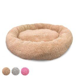 מיטה-לכלבים-פרוותית-עגולה-60-סמ